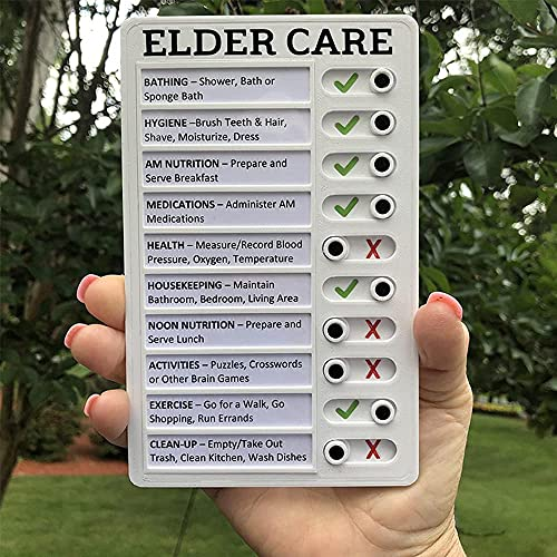 Tablero de plástico de notas,tablero de clip de oficina portátil, lista de verificación de notas creativas desmontable y reutilizable para verificar elementos y formar buenos hábitos (Elder Care)