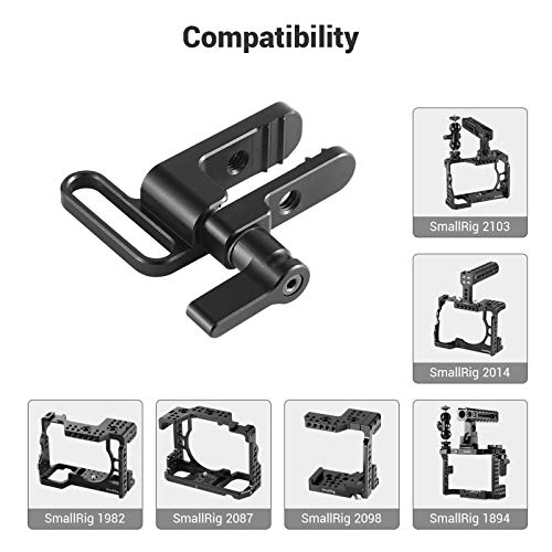 SMALLRIG HDMI Cable Clamp Lock Compatible with Sony A7RIII A7II A7RII A7SII, SMALLRIG Cage 1660, 1673, 1675, 1982, 2087-1679