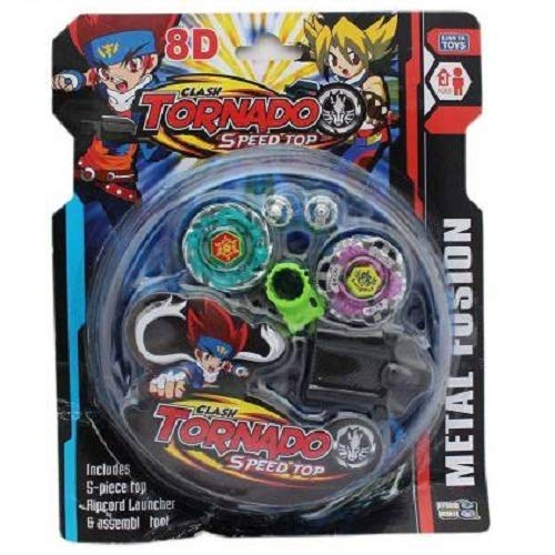 BLASTOOZEE Bey Blade Speed Rotation Spinning Toy with Rip Chord and Launcher and Stadium (Colour May Vary)
