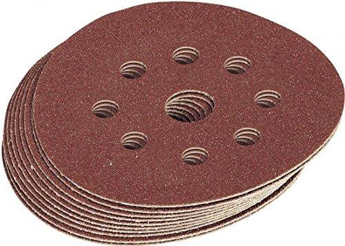 Draper 63369 Hook-and-Loop - Discos redondos para lijadora (125 mm, grano 100, 10 unidades)