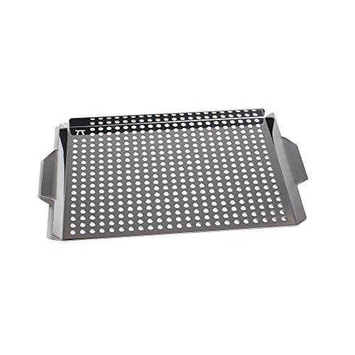 Outset QS71 Grande grille de grill avec poignées en acier inoxydable