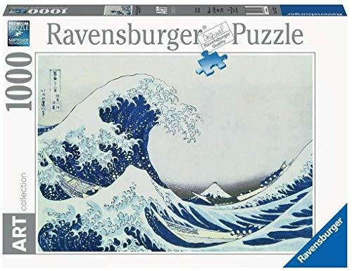 Ravensburger Puzzle 1000 Piezas, Great Wave off Kanagawa, Arte, para adultos, Rompecabezas de calidad