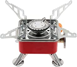 Swadhin Outdoor Portable Square-Shaped Gas Butane Burner Camping Picnic Folding Stove with Storage Bag