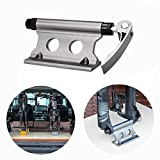 Riiai Bike Fixing Rack, Car Roof Rack Carrier Stand Quick Release Alloy Bike Frame Clamp, Fork Lock Mount...