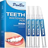 Teeth Whitening Pen with 4x3ml Natural Tooth Whitening Gel Removes Stains Safely,30+ Uses, Painless, No Sensitivity,Travel-Friendly, Easy to Use,Best Effective Tooth Whitener