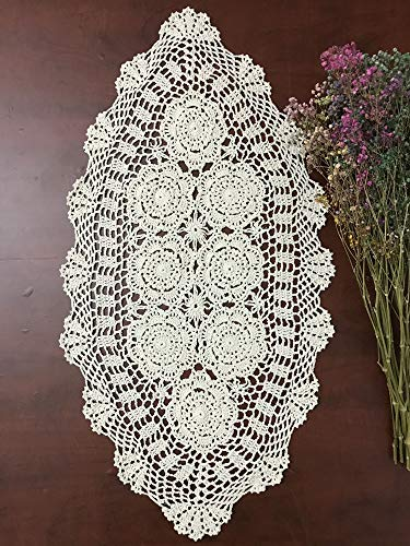 Hetao 16x27 100% Cotton Handmade Crochet lace...
