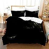 Satauly Batman Bedding Set Full Size Black Duvet Cover Sets Boys Room Decor Comforter Cover 3 Pieces Kids Teens Bed Sets 1 Duvet Cover 2 Pillowcase, No Comforter Included