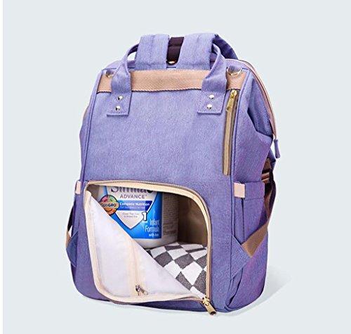 HJXJXJX Sac à dos pour bébé et sac à dos Sac à dos multifonctions - Grand sac à main élégant et élégant