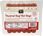 365 Everyday Value, Uncured Beef Hot Dogs (6 units), 16 oz