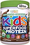 Feel Great 365 USDA Organic Green Superfood Kid's Protein Powder (60 Day), Mocha Chocolate Vegan...