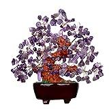 Quartz Purple Crystal Money Tree Bonsai Feng Shui Treasure...
