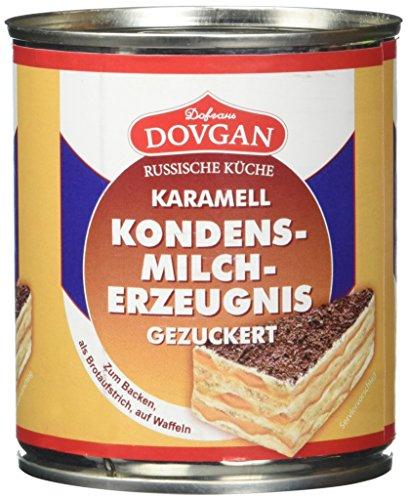 Dovgan Gezuckerte Kondensmilch Karamell, 6 prozent Fett (397 g)