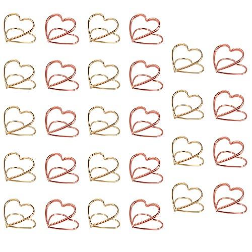 Kaimeilai Clips de Papel en Forma de corazón, 28 Clips de Papel...