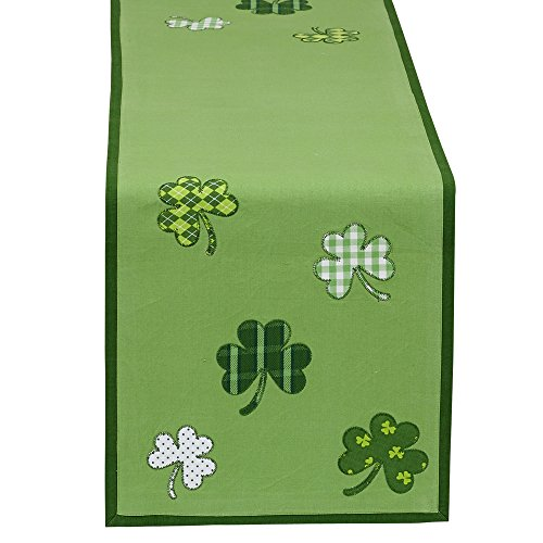 """DII St Patrick's Day Clover Table Runner, """"14x52"""""""