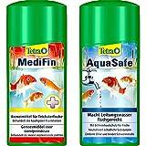 Tetra Pond MediFin (universell wirkendes Arzneimittel für alle Gartenteichfische), 500 ml & Pond AquaSafe (Qualität-Teichwasseraufbereiter für fischgerechtes und naturnahes Teichwasser), 500 ml