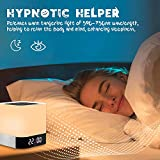 BixMe Night Light Bluetooth Speaker, Bedroom Alarm Clock MP3 Player,Touch Control Bedside...