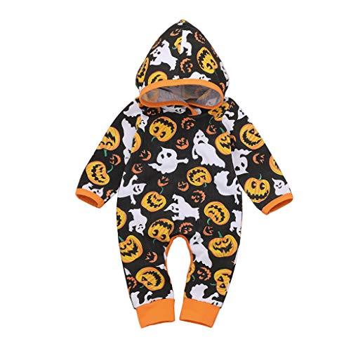 Babypompoen Halloween met capuchon top broek gestreept katoen kleding voor kinderen Little Devil Vampire kind speelgoed hoed sokken urinaal kinderwagen baby