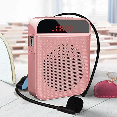 TAIZ Amplificador de Voz portátil con Sistema Pa Personal con Auriculares de micrófono, Altavoz de micrófono, Compatible con TF/USB/FM/AUX/grabación/Bluetooth, Sistema de Amplificador de Sonido para