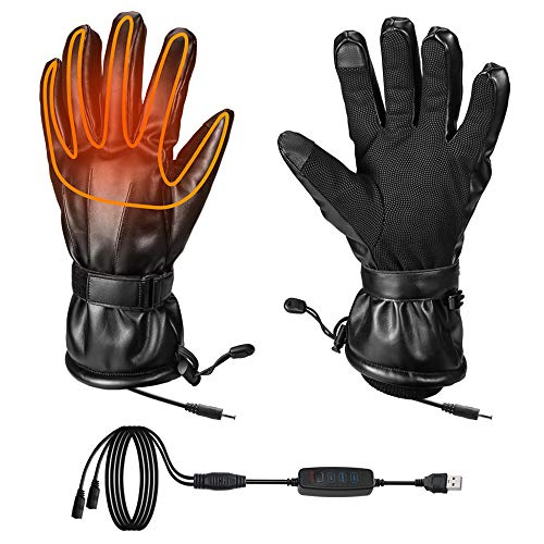 Heated Gloves for Men for Cold Winter, Fingers & Hands Warmer for Ski Motorcycle Hiking Hunting,...