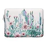 MOSISO Funda Protectora Compatible con 13-13.3 Pulgadas MacBook Pro/MacBook Air/Ordenador Portátil, Bolsa Blanda de Repelente de Agua de Cactus, Color Blanco