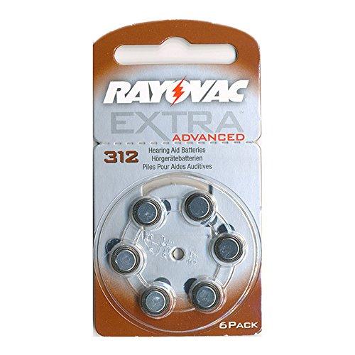 Rayovac batterie AE312PR41batterie per apparecchi acustici