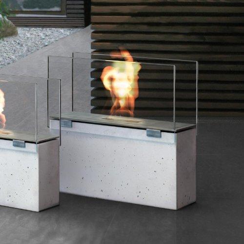 Conmoto Muro Feuerstelle, grau transparent H70cm