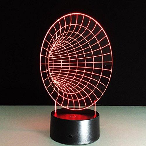 LPY-3D Corne Nuit Lampe ABS Base USB Batterie Double Alimentation stéréo stéréo Acrylique Conseil LED Illusion d'optique Lampe Chambre décoration Cadeau
