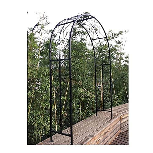 Gartenbogen, Eisenbogen-Klettergerüst, zum Klettern von Pflanzen und Rosen im Freien Garten Rasen Hinterhof Terrasse Hochzeit verwendet/Schwarz / 150×40×230cm