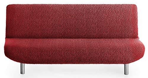 Funda de sofá Cama sofá Spongy Tejido Adaptable y Esponjoso - Color 08 Rojo - para Sofa Clic clac