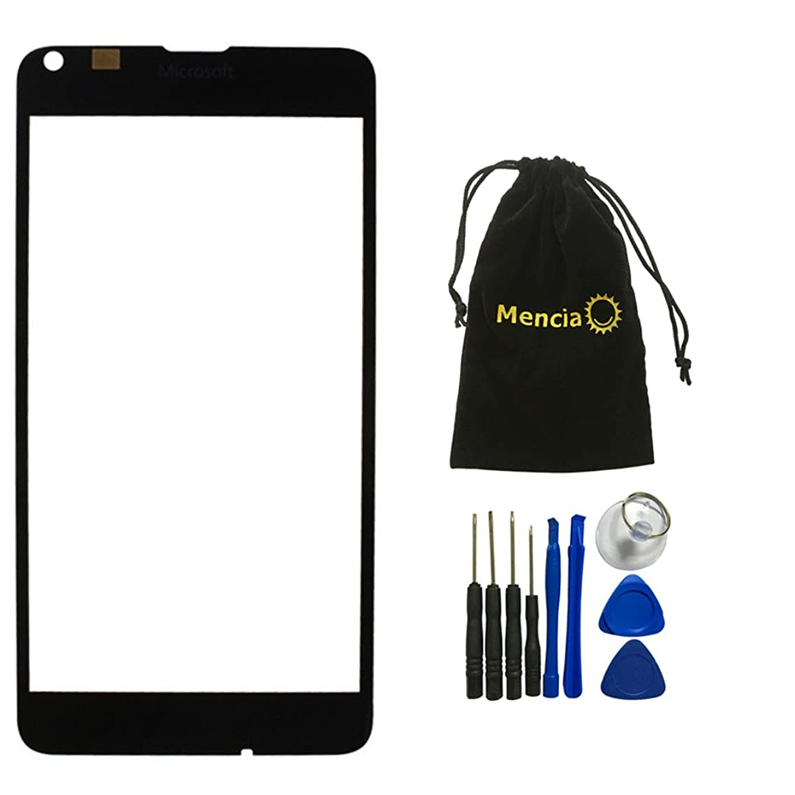 Mencia Nokia Screen Replacement for Nokia Lumia 640 Screen Glass Lens Faceplate with Tools (No Touch and Lcd)