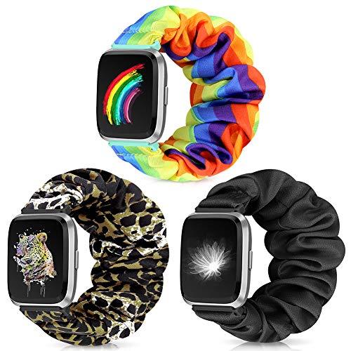 Runostrich Scrunchie Elastic Watch Strap Women for Fitbit...