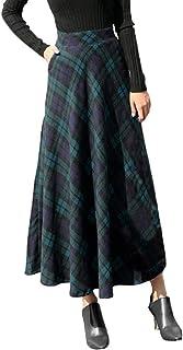 Vestido Casual de la Moda de la Falda Larga de la Tela Escocesa de Las señoras Gran tamaño Suelta Elegante Dress Camiseta Tops Primavera Vestidos Fiesta Coctel Mujeres riou