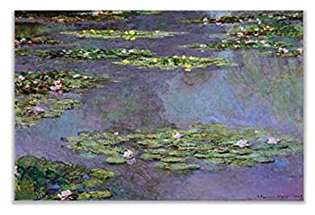 Monet Wall Art Collection Canvas Water Lilies 1905 01 by Claude Monet Prints Wrapped Gallery Wall Art   Stretched and Framed Ready to Hang 30X40