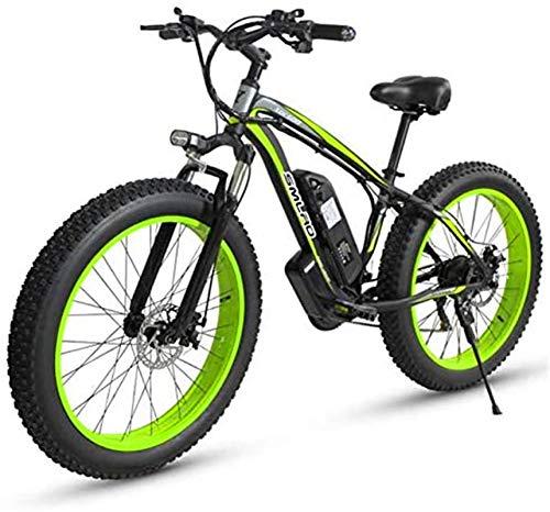 RDJM Bici electrica, Marco de aleación de 27 Velocidad de Bicicleta eléctrica de montaña, Velocidad rápida de 26' Bicicleta eléctrica de Ciclo al Aire Libre Trabajar el Cuerpo Viaje