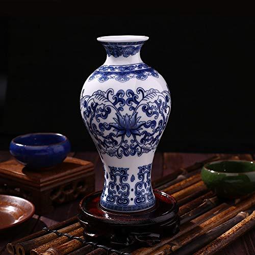 Cxp Boutiques Stile Bottiglia Antica della Decorazione della casa del Salone di Studio della Porcellana Blu e Bianca d'Annata Cinese Tradizionale del Vaso Elegante (Color : C3)