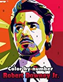 Robert Downey Jr. Color By Number: American Actor and Producer Tony Stark or Iron Man and Sherlock Holmes Inspired Color Number Book for Fans Adults Creativity Gift