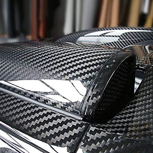 "RockRose 5D Black High Gloss Carbon Fiber Vinyl Wrap, Anti-Wrinkle Air Release Automotive Bubble wrap, Self Adhesive Car Vinyl Sticker DIY Decals (12"" X 60"")"