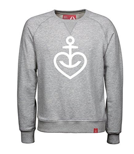 ASTRA Bier Herzanker Herren Sweater Sweatshirt Pulli Pullover grau meliert (L)