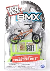 TD BMX Freestyle Hits obstacle and finger bike 2 pack Neon green gate freestyle obstacle WETHEPEOPLE orange and brown complete BMX finger bike BMX finger bike is approximately 4 inches long For 6 and up