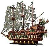 Laytte Creative Pirate Ship Block Block Modelo Set DIY Big Building Blocks Puzzle Bloques De Construcción Montaje Pequeñas Partículas (3653Pcs)