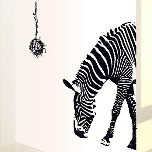 Huchang - Pegatinas de pared con personalidad de cebra creativas se pueden quitar de las pegatinas de decoración de la casa