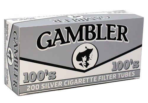 Gambler Silver 100mm Size RYO Cigarette Tubes 200ct Box (5 Boxes)
