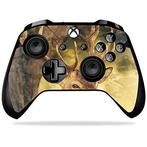 MightySkins Skin Compatible with Microsoft Xbox One X Controller - Deer Camo   Protective, Durable, and Unique Vinyl Decal wrap Cover   Easy to Apply, Remove, and Change Styles   Made in The USA