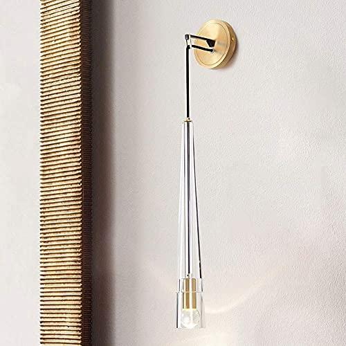 LBMTFFFFFF Novedad Lámpara de Pared Soporte de Luz Lámpara de Pared de Re Moderna Luz de Cristal de Lujo Sala de Estar Lámpara de Comedor Dormitorio Simple Creativo Estudio Luz de Pasillo