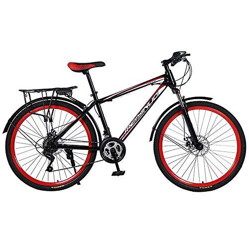 Nerioya Mountainbike, Stoßdämpfendes 26-Zoll-Doppelscheibenbremsen-21-Gang-Fahrrad Aus Kohlenstoffstahl, Verschleißfest, Explosionsgeschützt,B,26 inch 27 Speed