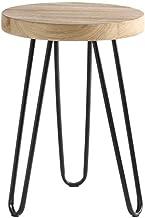 Yxsdd Footstool Home Iron Art High Stool Living Room Circle Stool Sofa Stool Small Stool Creative Dressing Chair Multifunc...