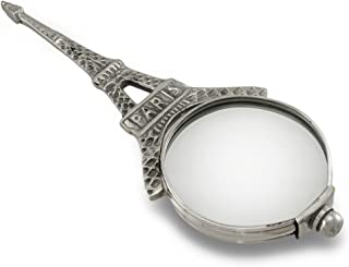Silvertone Eiffel Tower Hand Held Magnifying Glass Reading Glass