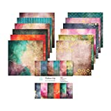 YARUMI Single-Sided Scrapbook Paper Pad,Pack of 24 Pages Scrapbooking Paper Collection-Brilliant Life-Holiday Cardstock Cardmaking Photo Frame Decorative Pages Cuttable Foldable Pattern Paper Pack-12'