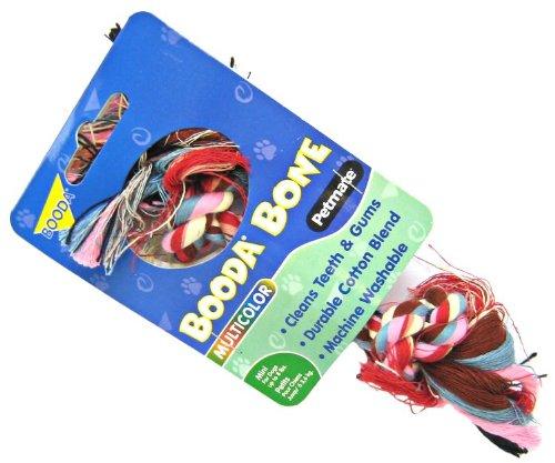 BOODA - 2-Knot Rope Bone Multicolor Extra Small - 1 Toy
