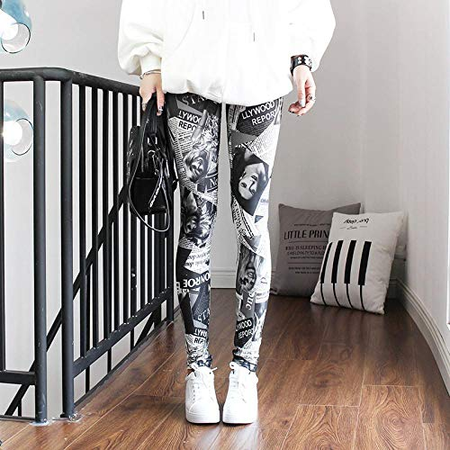 Leggings 1Pc Leggings Für Frauen Push Up Leggins Damen Mid Waist Stripe Dot Print Leggins Polyester Slim Fitness Hose L Zeitung Gratis Versand